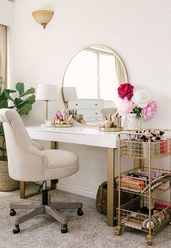 20 Best Makeup Vanities & Cases for Stylish Bedroom #bedroominspirations