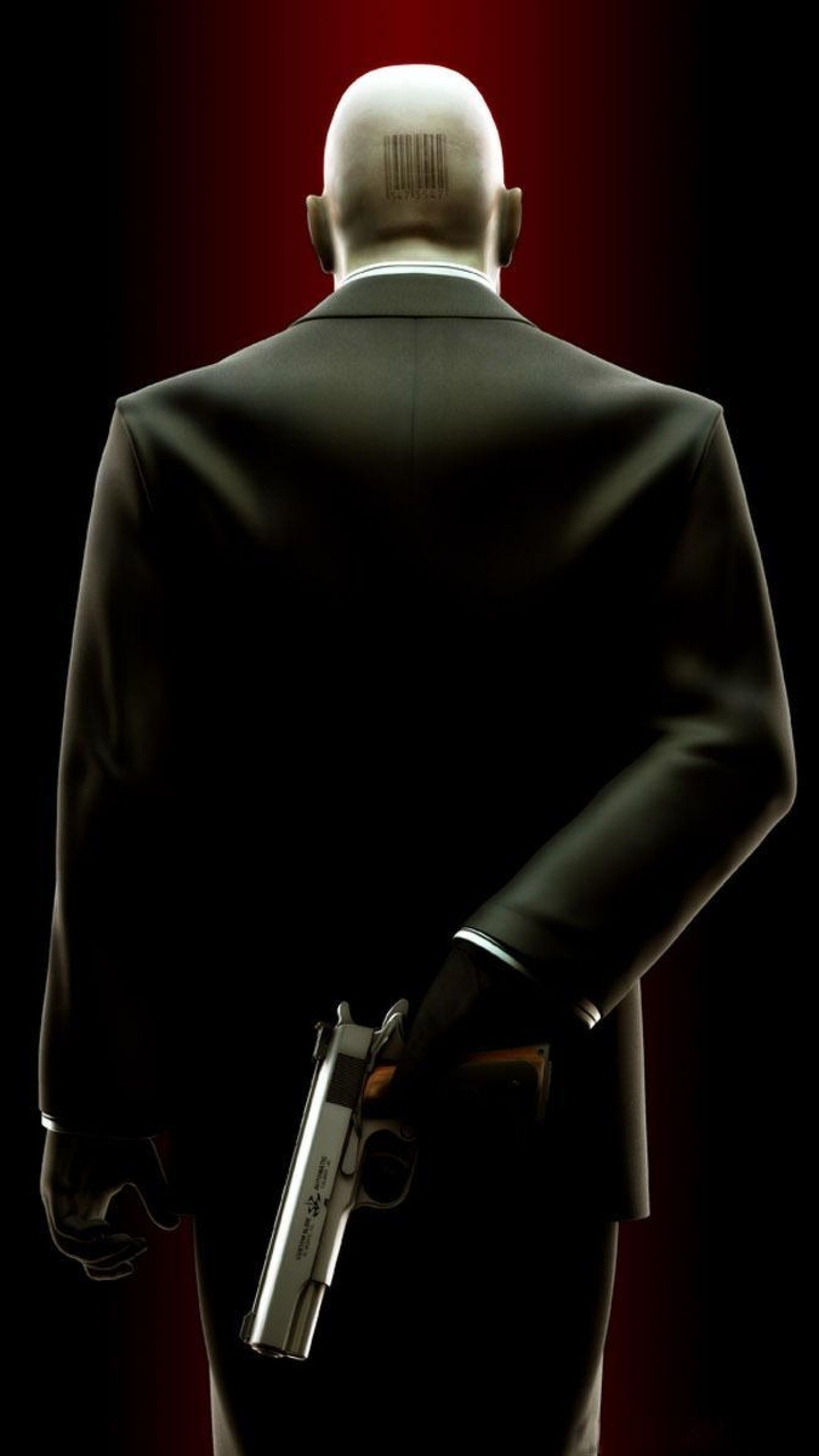 1440x2560 Preview Wallpaper Hitman Barcode Bald Pistol Agent 47 1440x2560 Hitman Agent 47 Hitman Agent 47