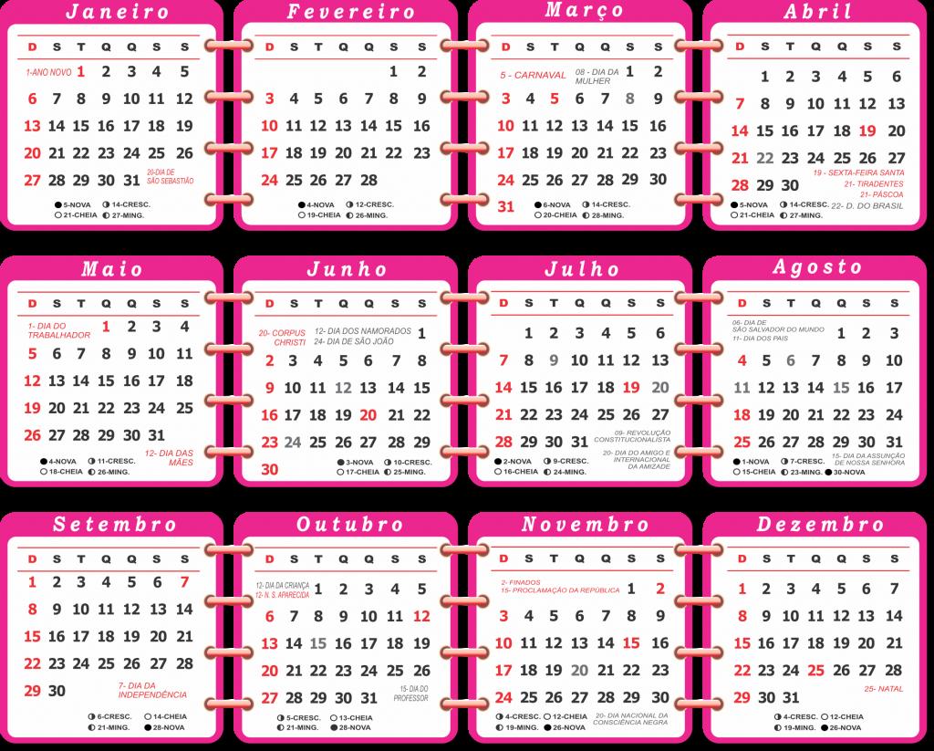 Calendario 2019 Rosa Portugues.Base Calendario 2019 Rosa Imagem Legal Calendarios