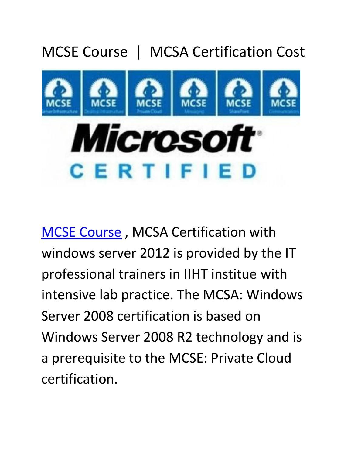 Mcsa Certification Cost Pinterest Newspaper Authors And Catalog