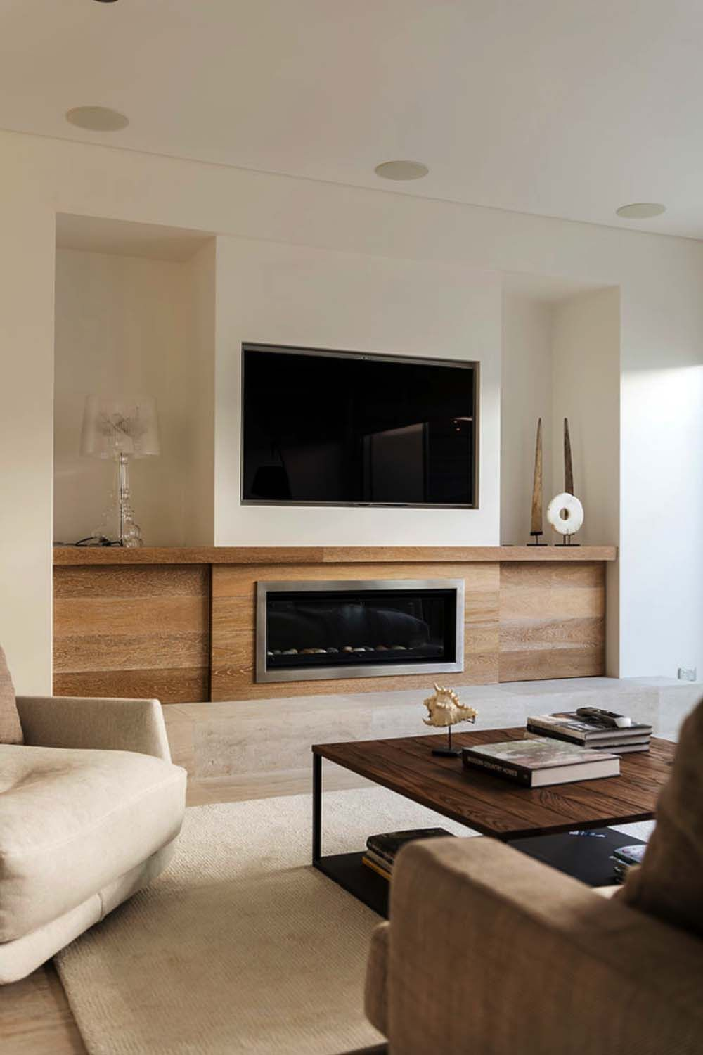 Renovated Australian Home Celebrates A Relaxed Beachside Lifestyle Contemporary Fireplace Designs Contemporary Fireplace Living Room With Fireplace #pictures #of #living #room #fireplaces