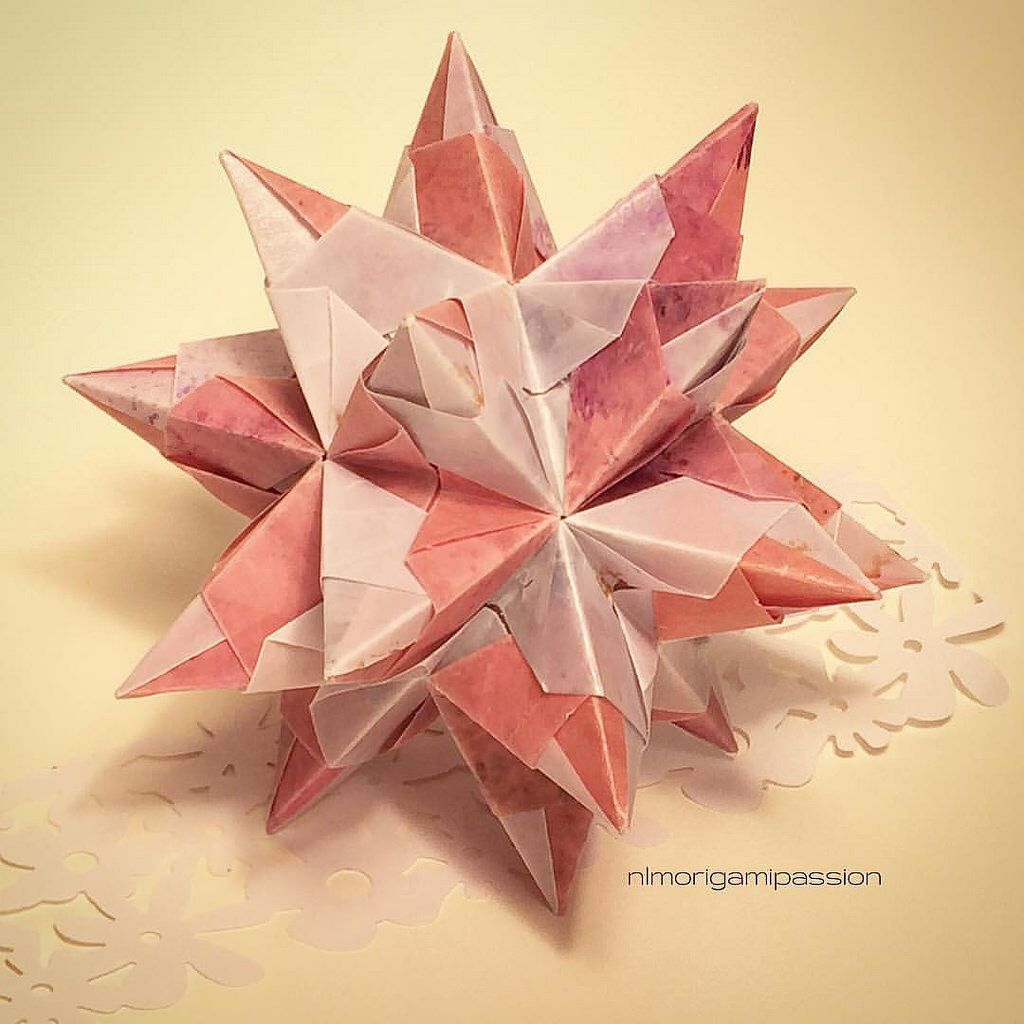 Bascetta star made with handwaxed paper.