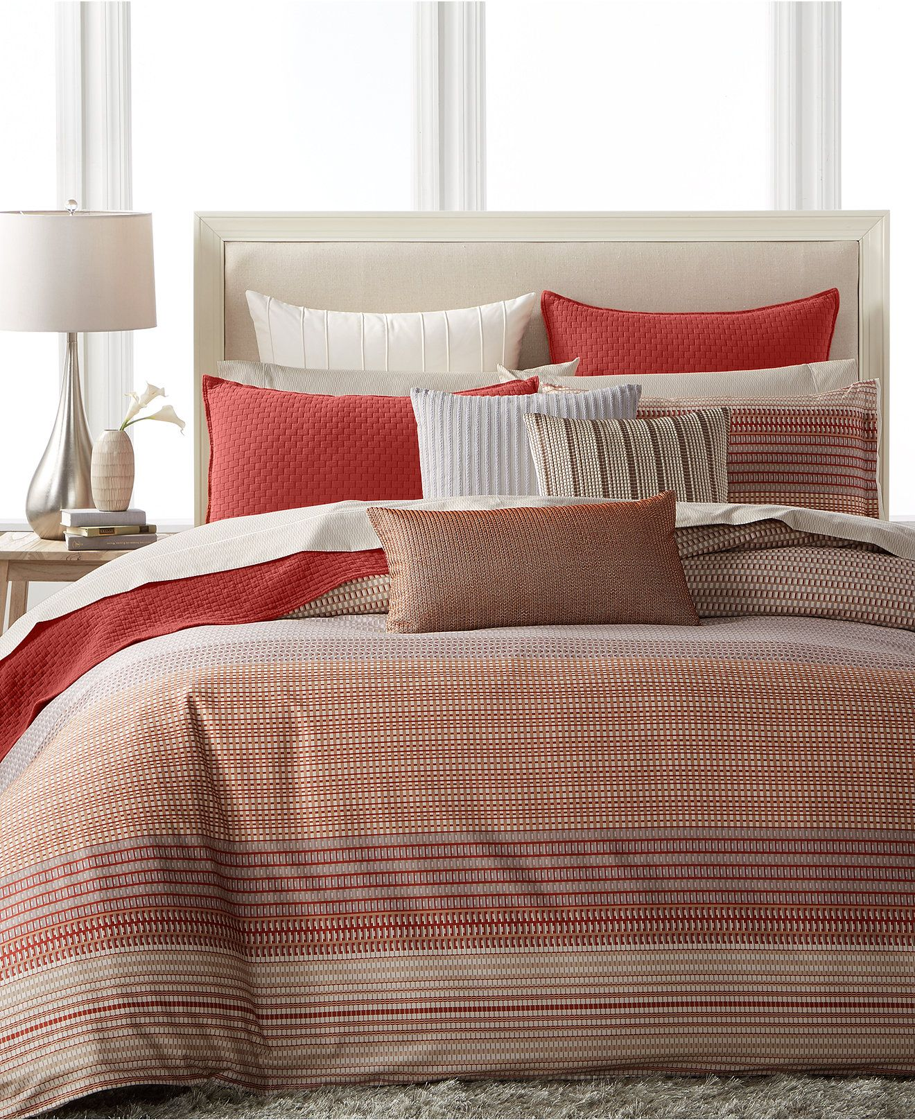 Modern Geo Stripe Bedding Collection, Created for Macy's