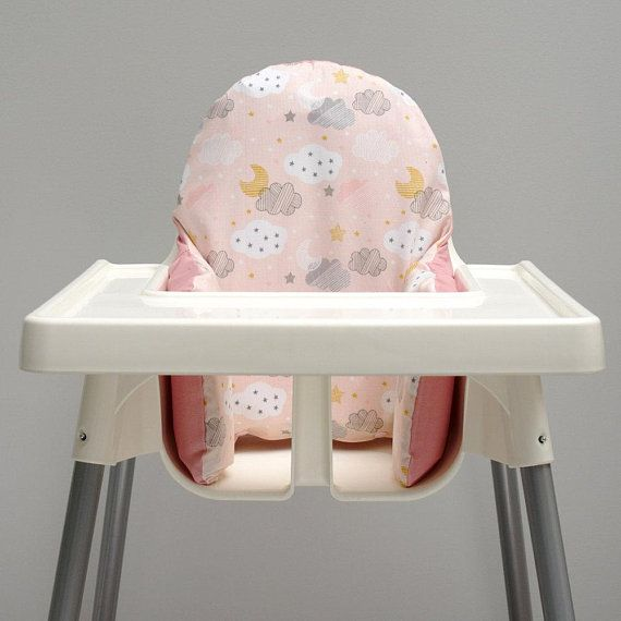 pink chair covers ikea leather and a half with ottoman cloud high cover antilop highchair cushion insert baby nursery decor twinkle night sky ikeakammig