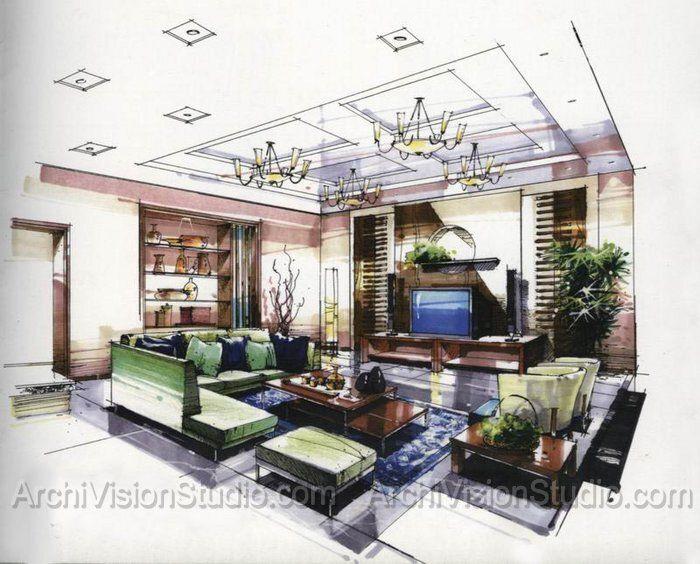 architectural marker rendering sketches architektur zeichnungen rh pinterest de