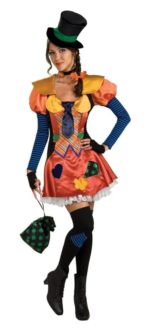 Adult Ladies 10-12 Sexy Hobo Clown Fancy Dress Circus Party Costume (STD)  sc 1 st  Pinterest & Adult Ladies 10-12 Sexy Hobo Clown Fancy Dress Circus Party Costume ...