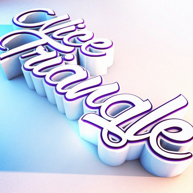 Fun with #Cinema4D. #graphic #design #graphicdesign #lettering #typography #type #3d #c4d #thedailytype #goodtype #art #script
