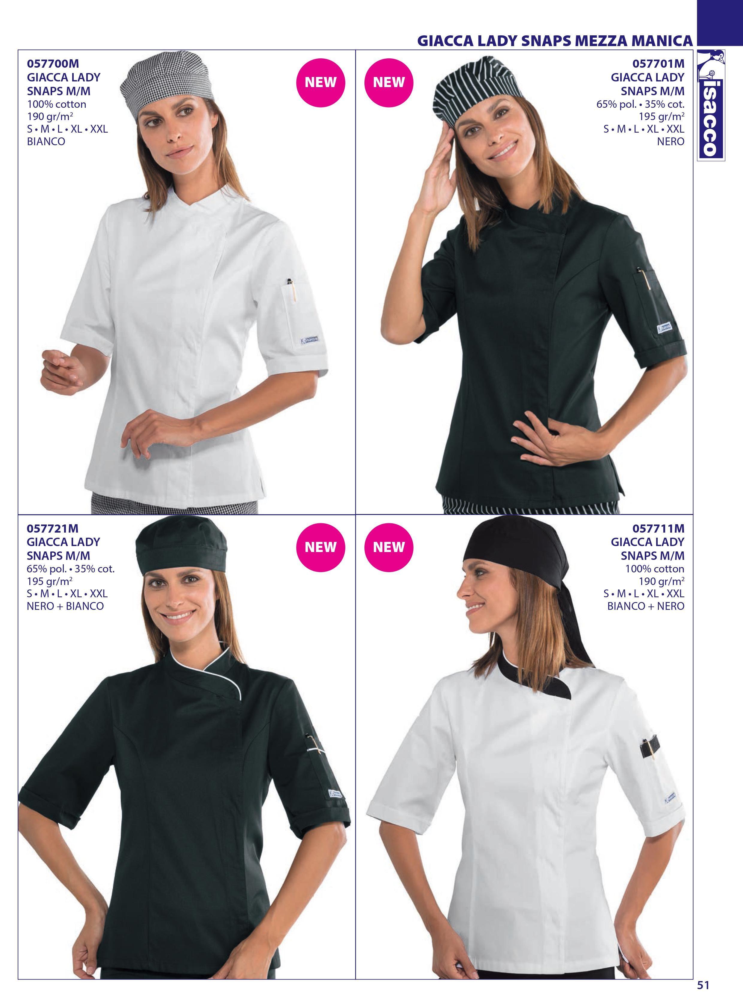 Chaqueta cocina señora y caballero Chef isacco 2016 | Chaquetas ...