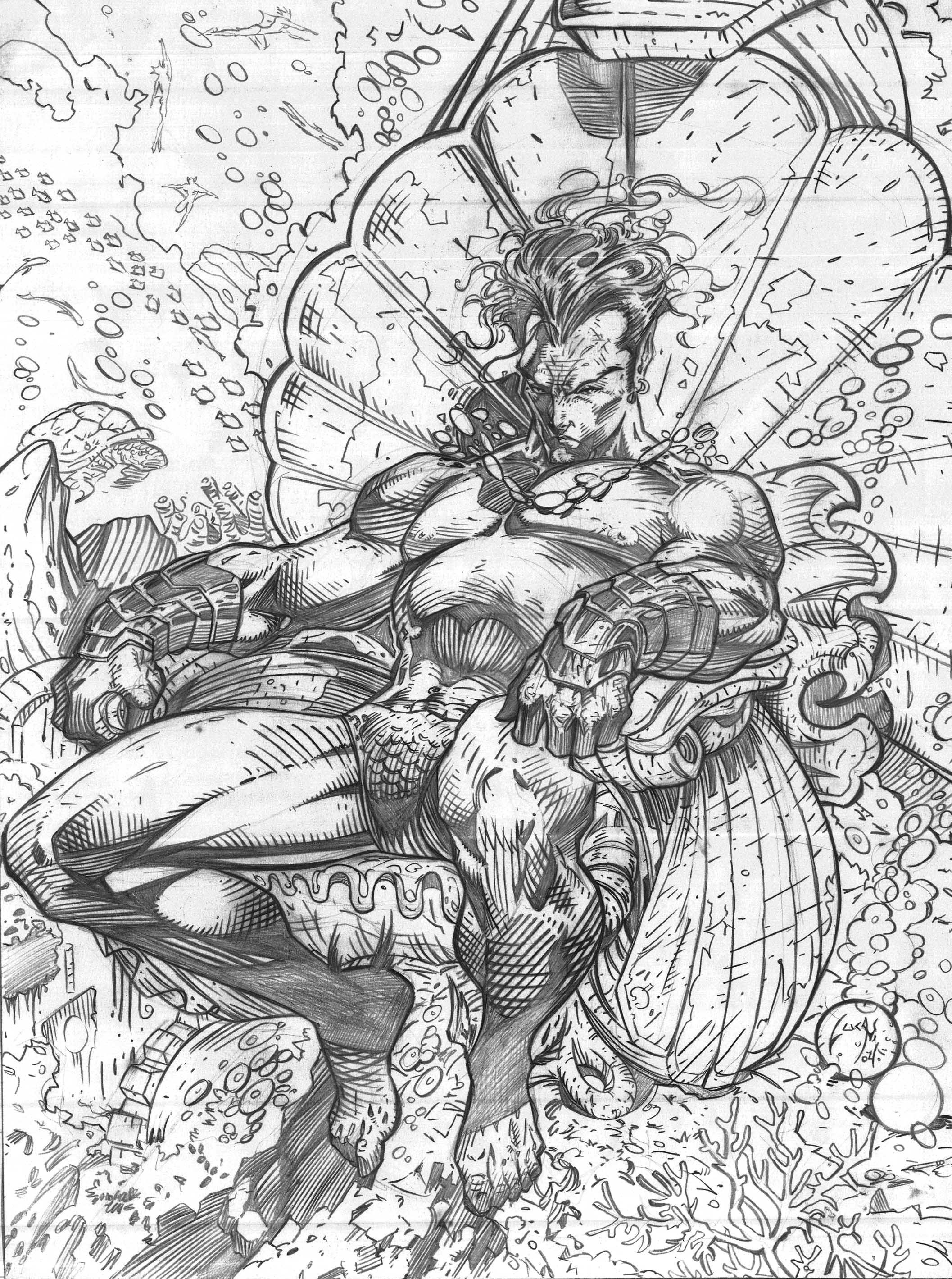 Submarine Sketch And Drawing Of The Art Of Jim Lee Comics