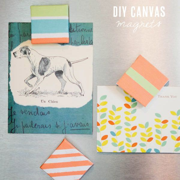 DIY canvas magnets from The Sweetest Occasion