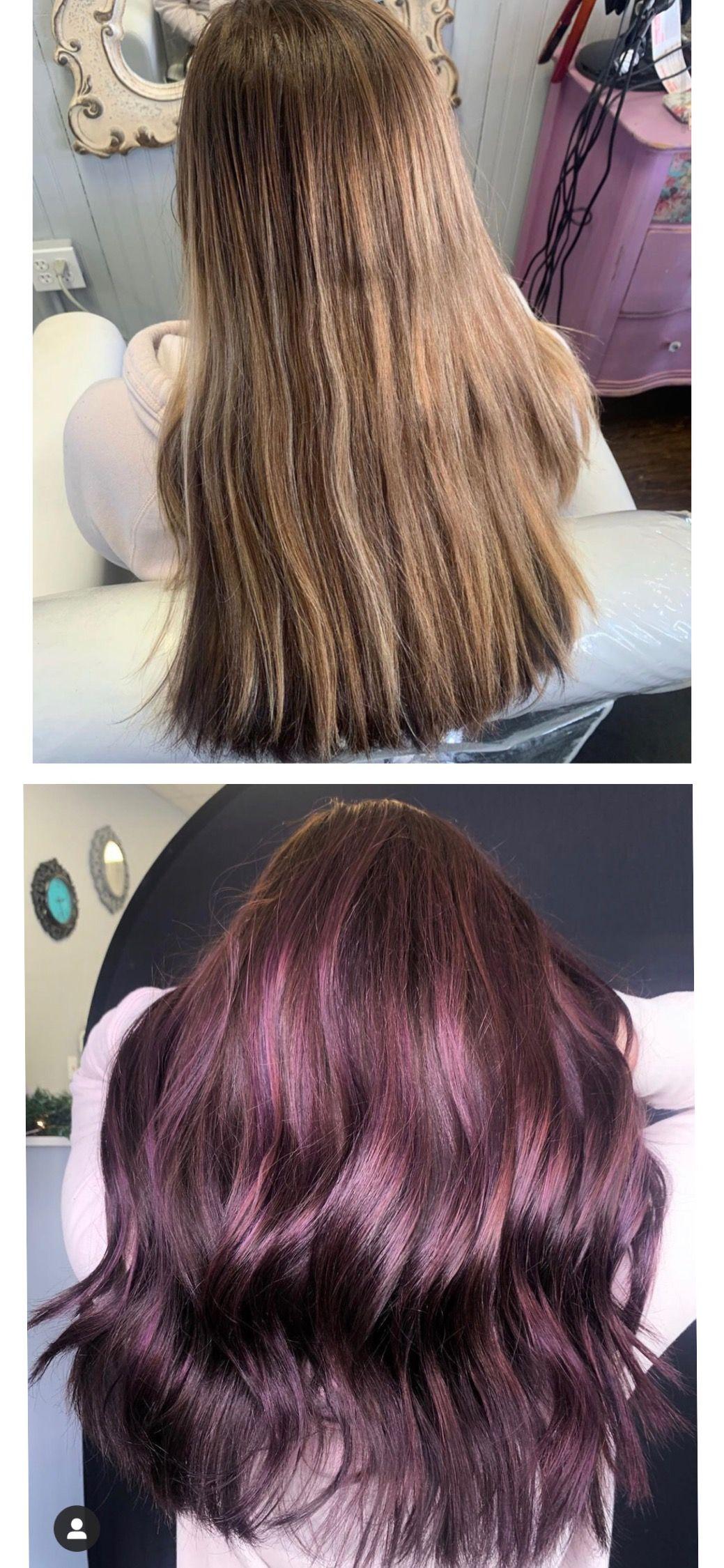 Purple Tinted Hair In 2020 Purple Tinted Hair Hair Tint Hair