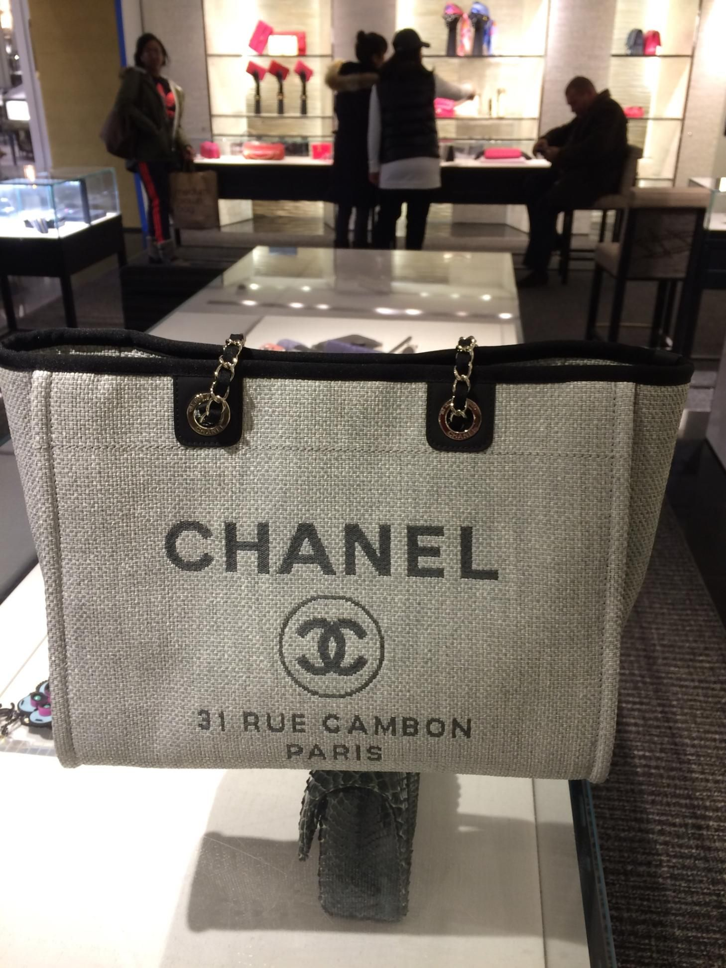 Chanel Small Grey Deauville Tote from Cruise 16 Collection  cb2066fb16520
