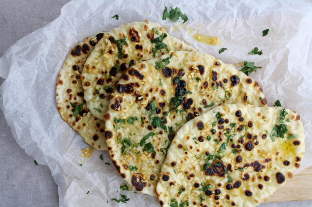 Garlic Naan Maunika Gowardhan Recipe In 2020 Garlic Naan Cooking Naan