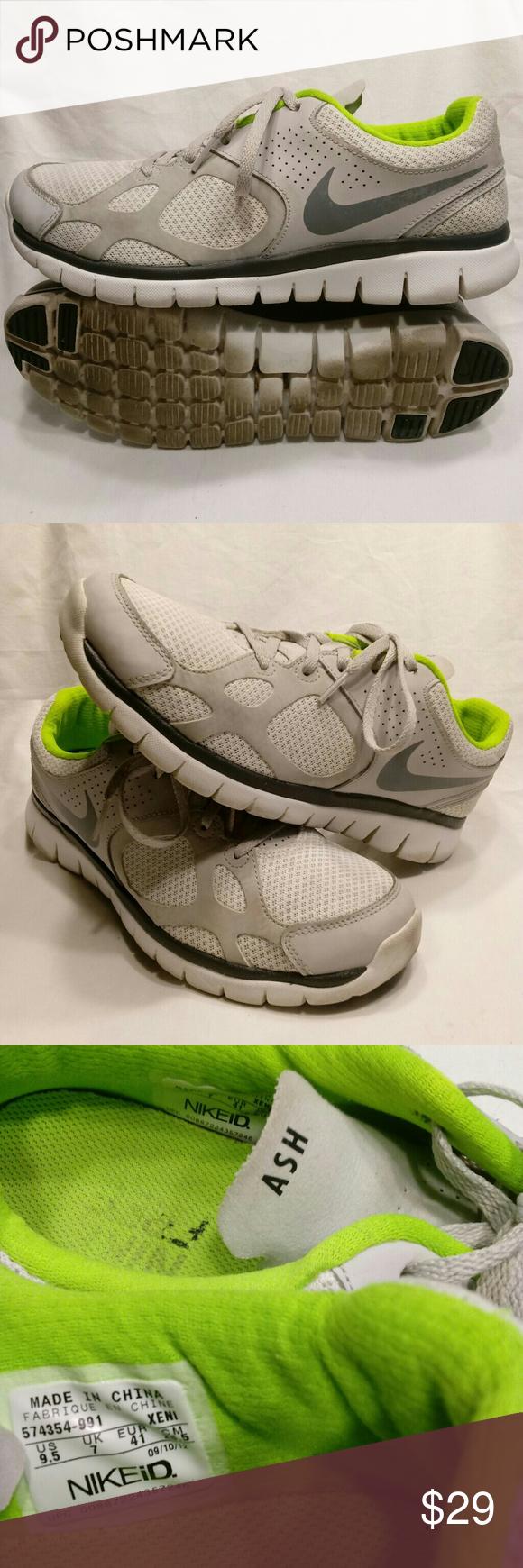 2389efd19d8da Nike ID Free Flex  Size 9.5  Run  Walk  Neon Green Clean and