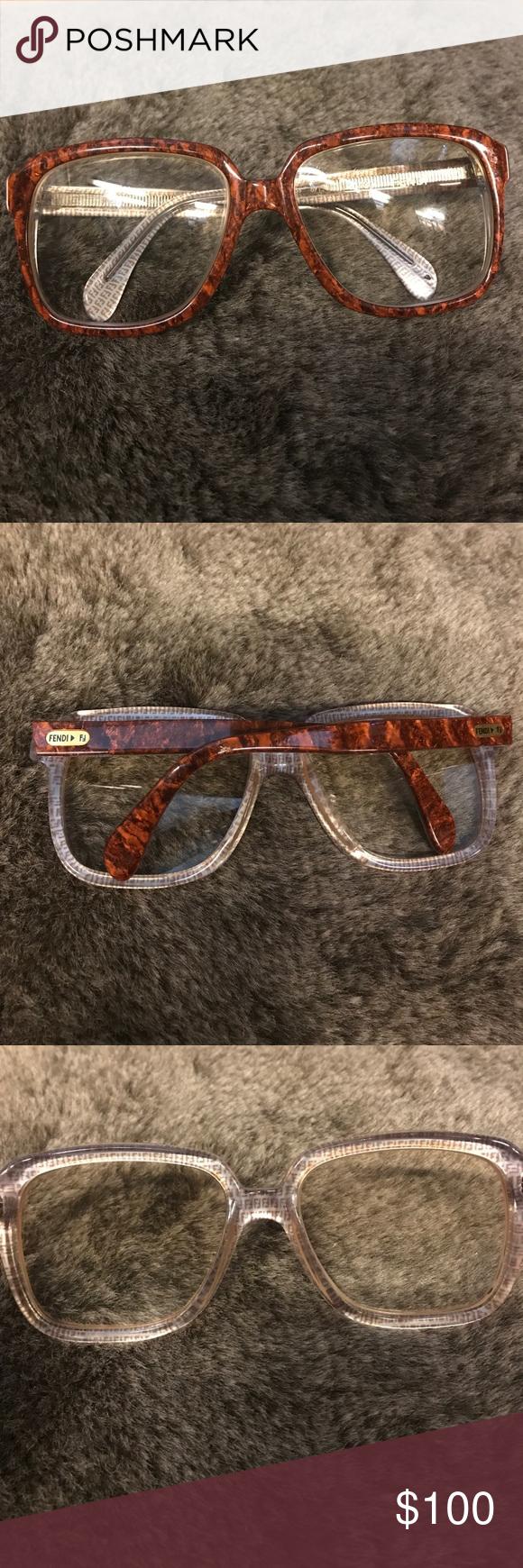 Vintage Fendi Brown Eyeglasses