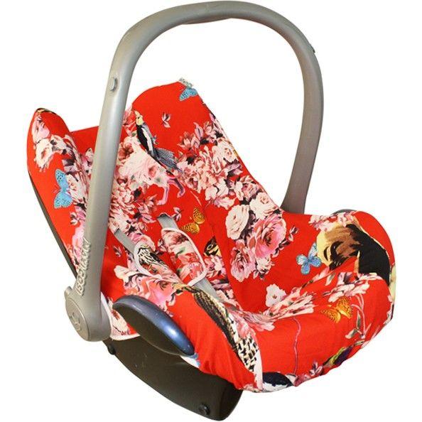Autostoelhoes Maxi Cosi Rood Met Dieren En Bloemen Met Afbeeldingen Autostoeltjes Bloemen Cover
