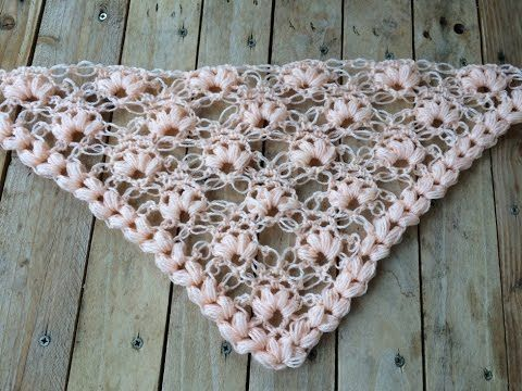 Scialle Triangolare Alluncinetto Triangular Shawl Crocheted