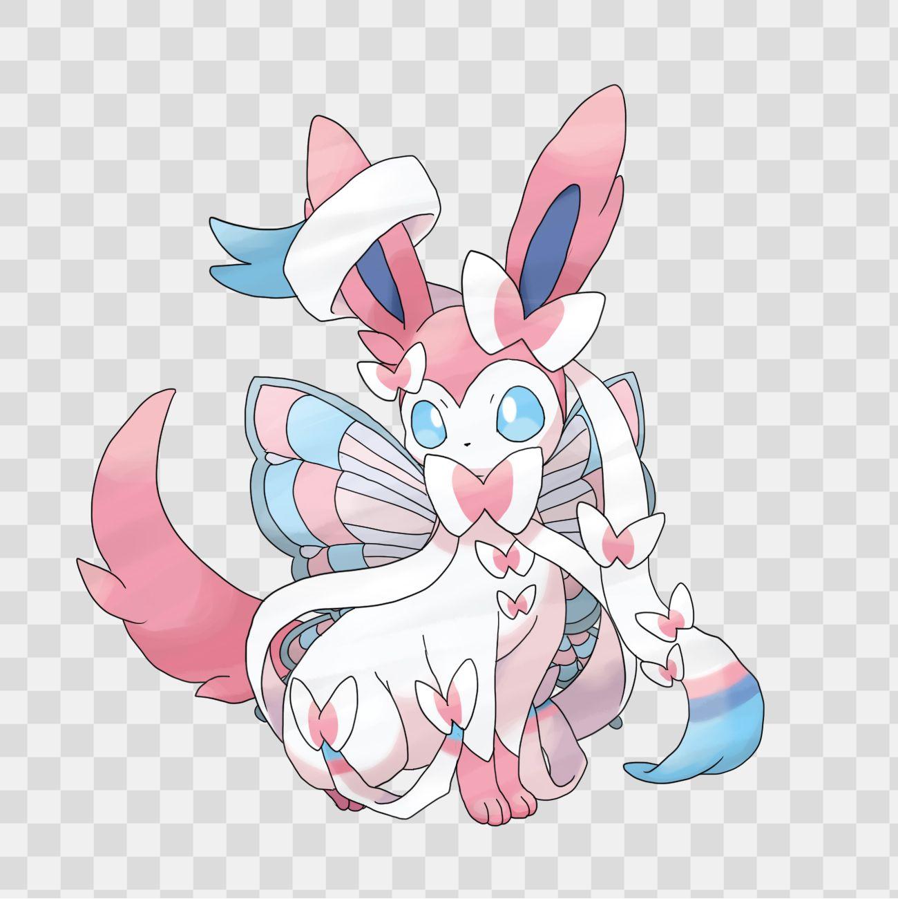 Sylveon (Evolution Fairy of Eevee) Pokemon [Nymphali ...  Sylveon (Evolut...