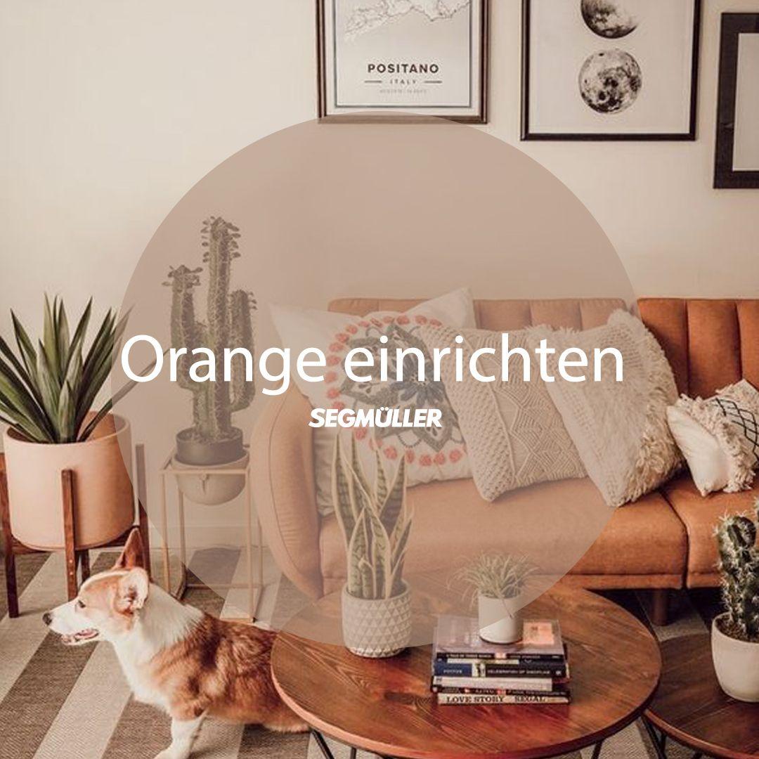 Orange einrichten - Wohnzimmer in 6  Wohnzimmer orange