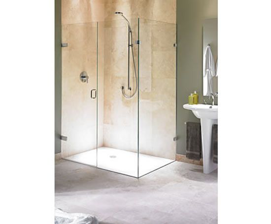 biarritz frameless corner shower enclosure