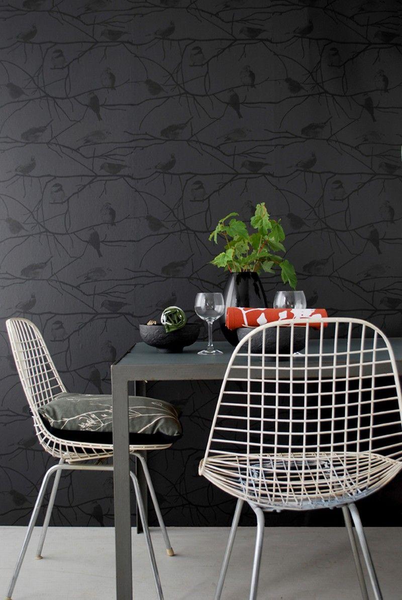tapeten trends aufgef delt vliestapete lesley print von der tapetenagentur w nde. Black Bedroom Furniture Sets. Home Design Ideas