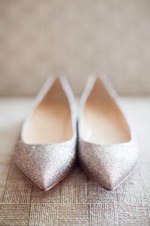 1000  images about Wedding shoes on Pinterest | Flats, Glitter ...