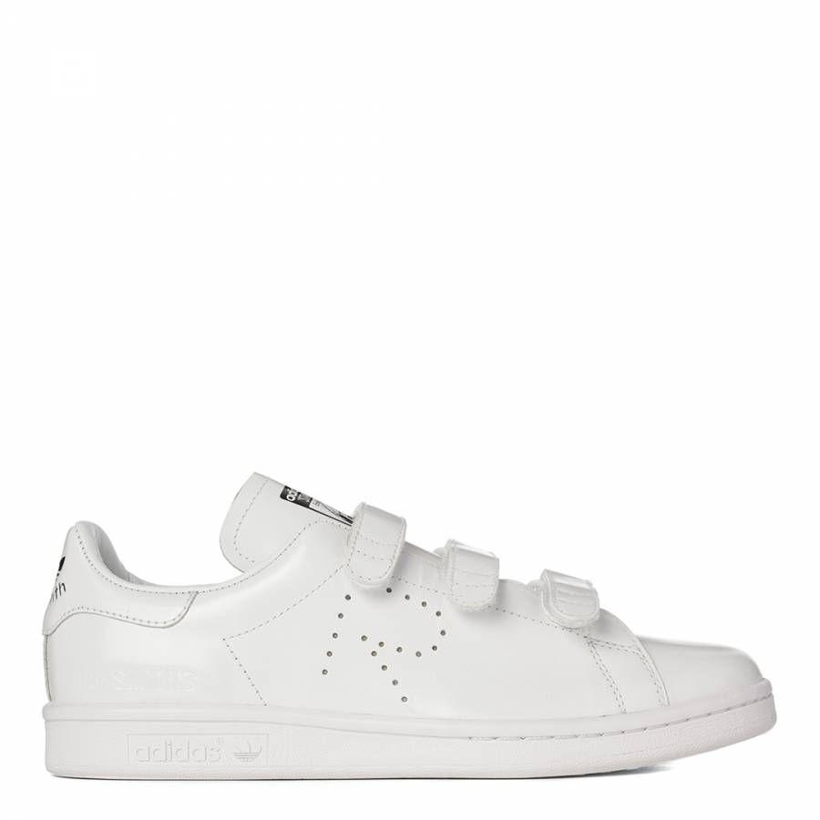 Women's White Leather Stan Smith Velcro