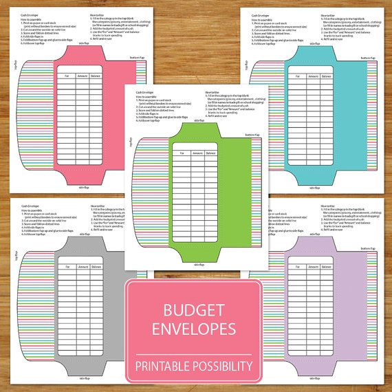 Use these envelopes to organize your spending and stay on budget - Financial Spreadsheet For Small Business