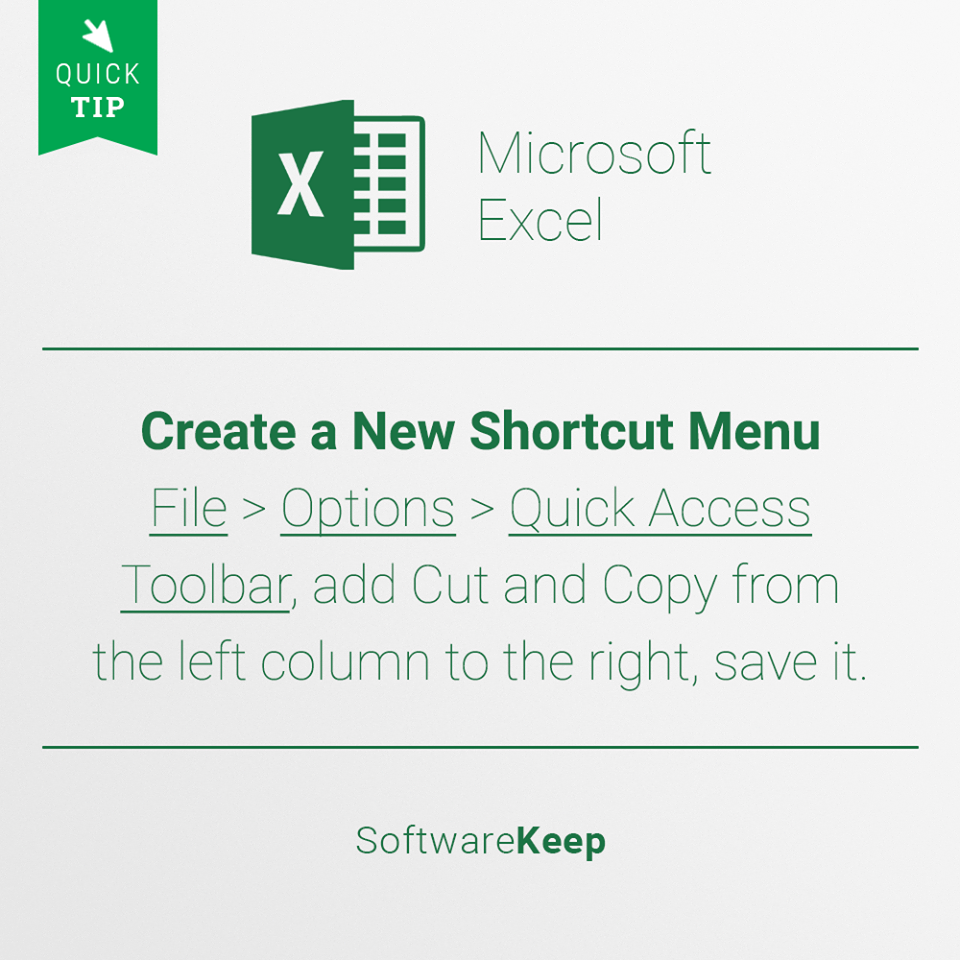 Excel tip 1 infographic Microsoft windows operating