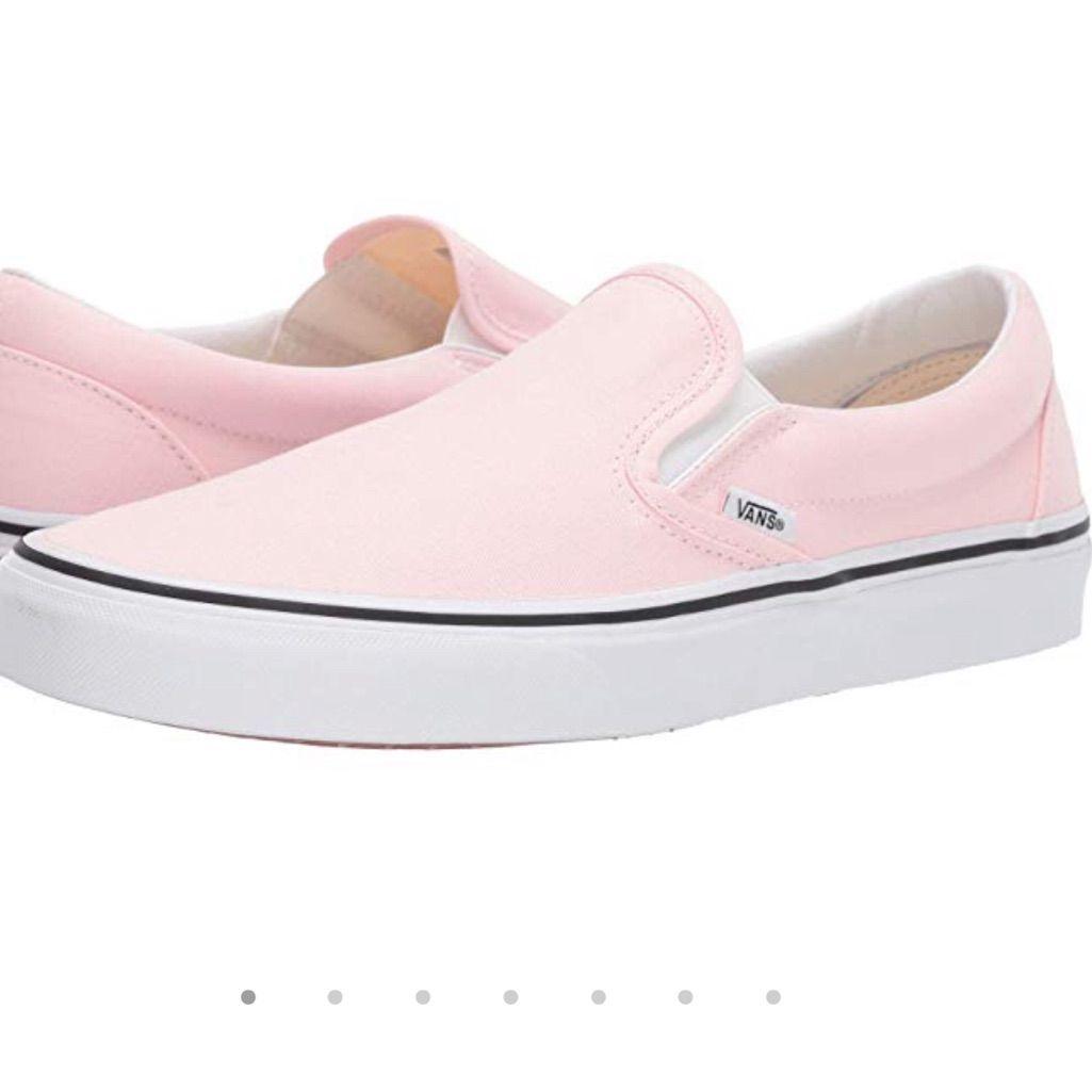 Vans Shoes | Slip On Light Pink Vans