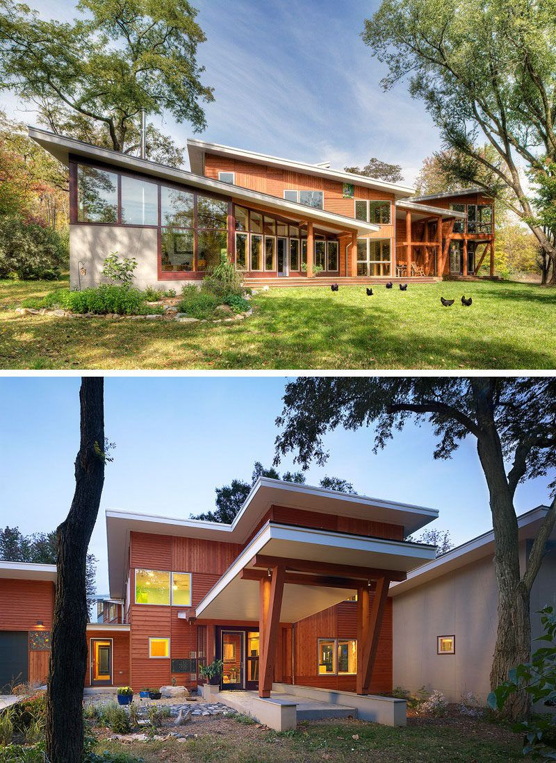 Best 16 Examples Of Modern Houses With A Sloped Roof 400 x 300