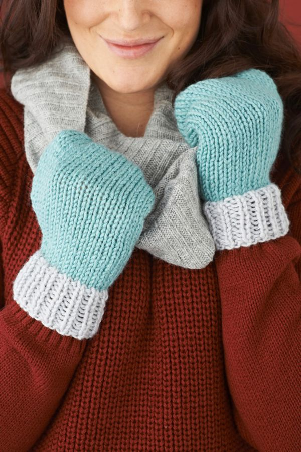 Simple Mittens Knitting Pattern Mollie Makes Craft Yarn