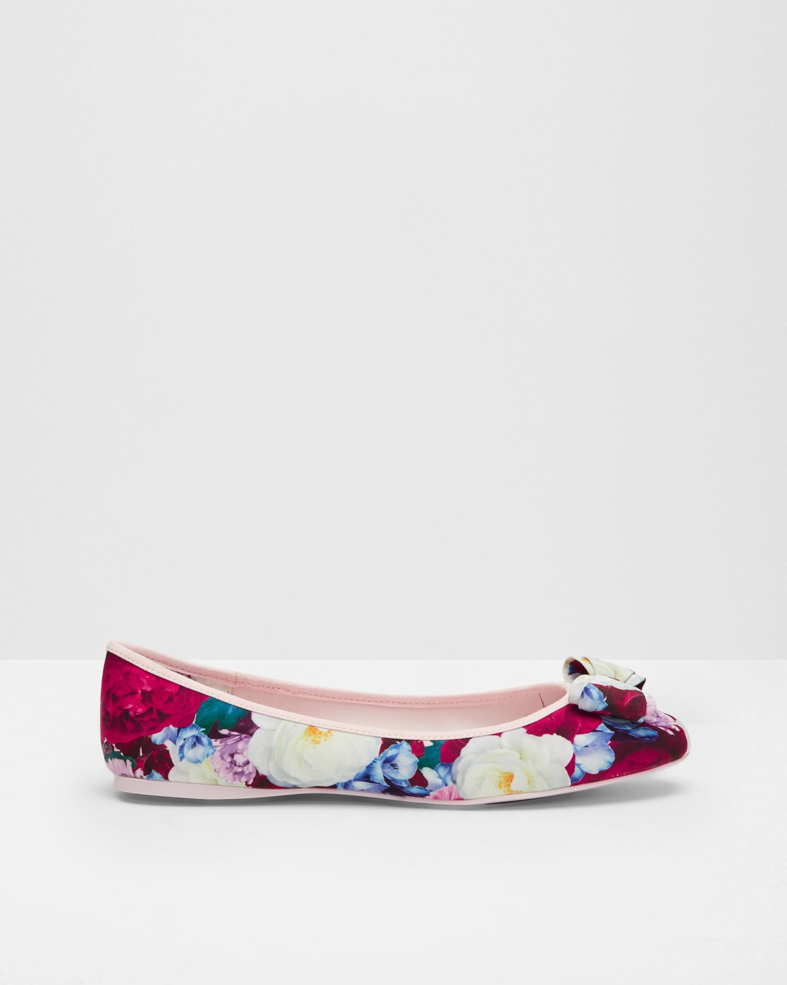 037aad0fab38a0 Printed bow detail pumps - Deep Pink