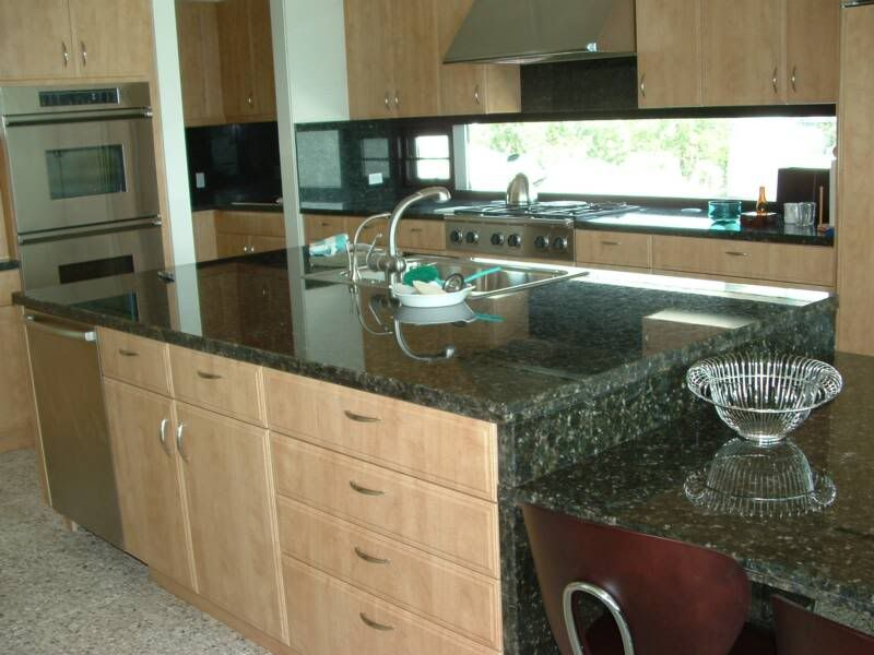 green granite maple cabinets | Granite/Quartz Countertops ... on Natural Maple Cabinets With Black Granite Countertops  id=51059