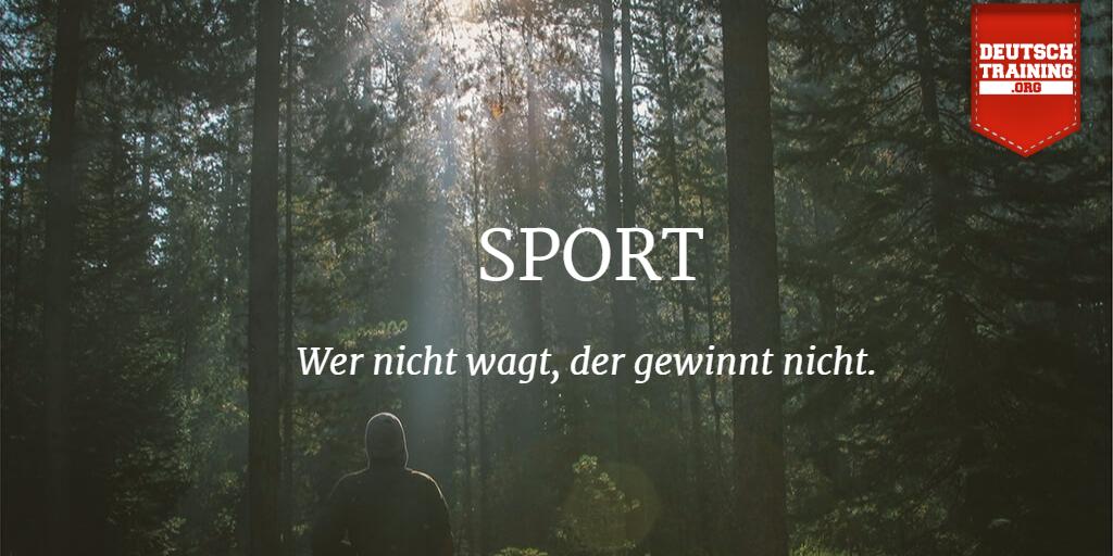 Treibst du gerne Sport? Hier kannst du Wörter zum Thema