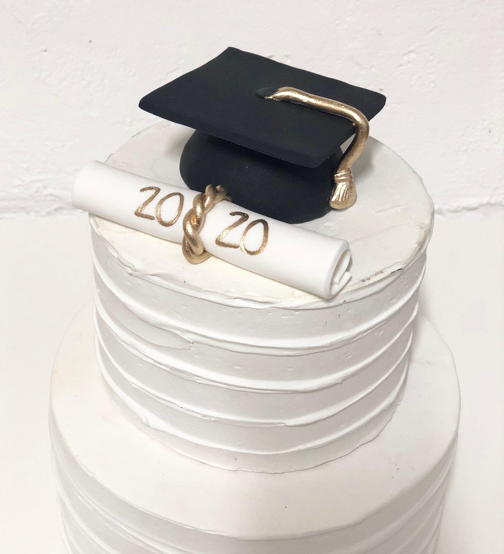 Fondant Graduation Cap And Diploma Cake Topper Fondant Custom Cake Topper Graduation Cakes Fondant Custom Cake Toppers