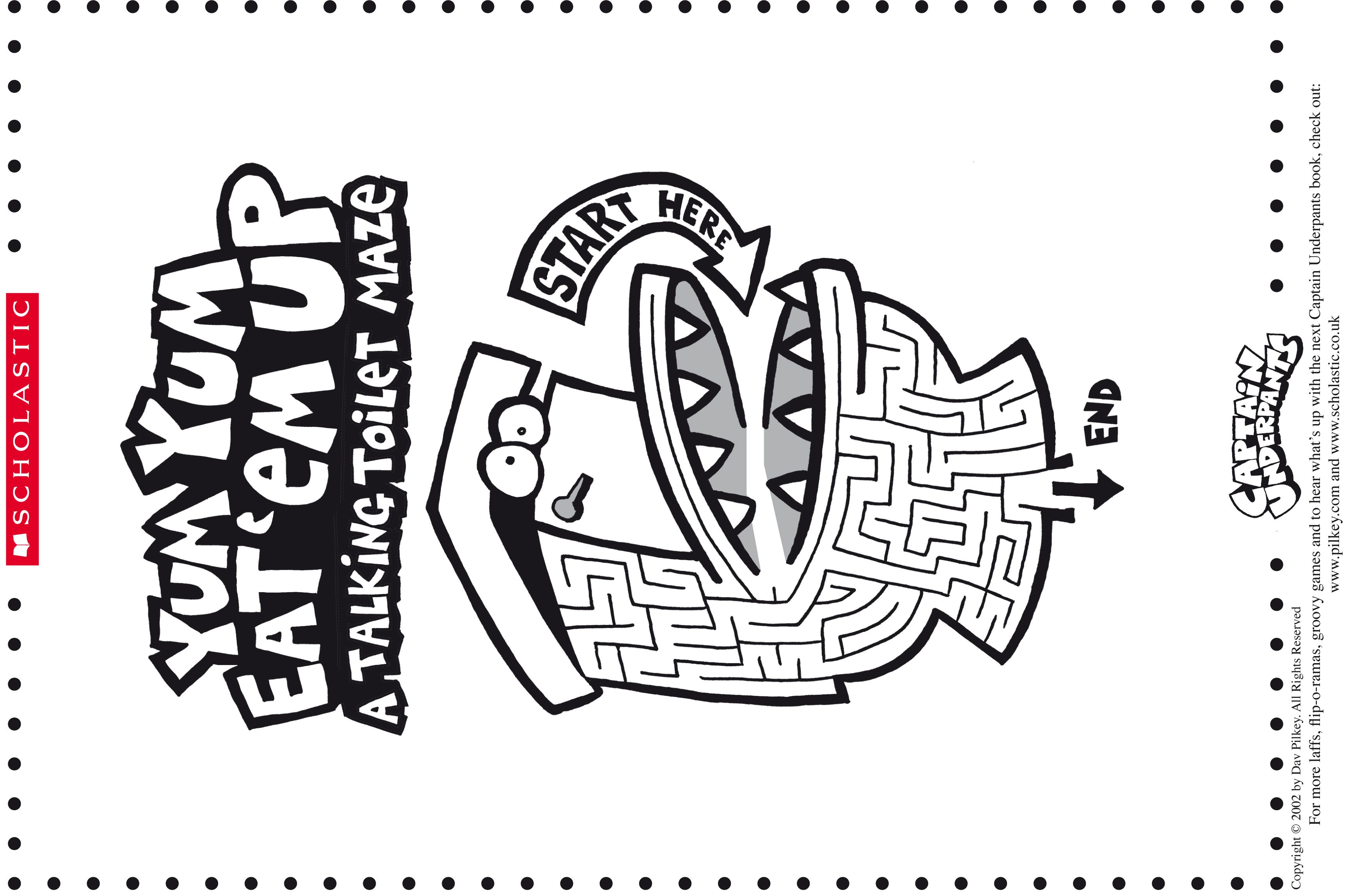 Dav Pilkey S Captain Underpant S Talking Toilet Maze Captain