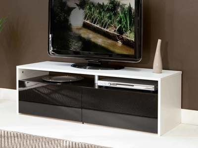 Meuble Tv Avec Tiroirs Et Niches Glossy Décoration Intérieure