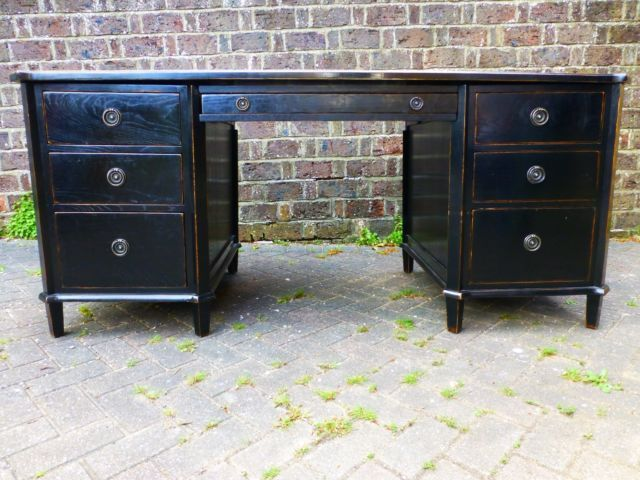 Laura ashley henshaw black desk and two chairs laura ashley desks and diy furniture - Laura ashley office chair ...