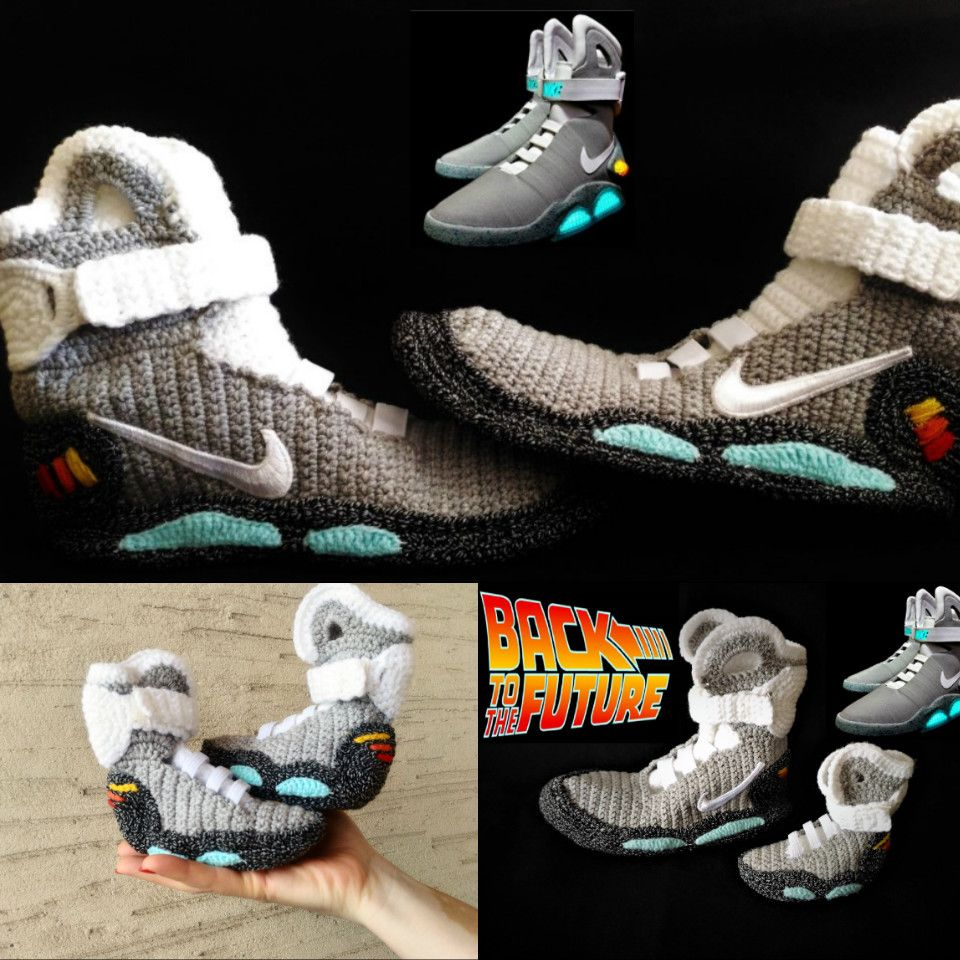 b81390224e622c Back to the Future Nike Air Mag Crochet Slippers