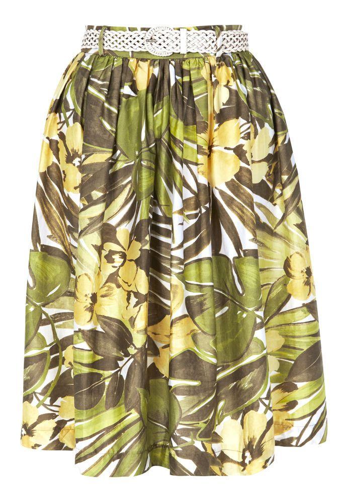 Tara Starlet 1940s 40s Style: Tara Starlet Lucia Skirt Rockabilly Retro Tiki 40s 50s 60s
