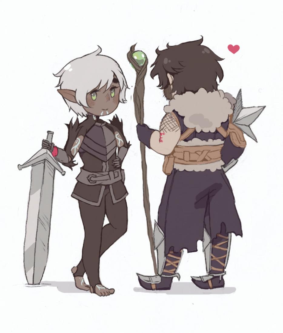 Fenris & Hawke. FenHawke. Dragon Age: II
