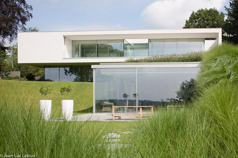 Villa in Belgium by Bruno Erpicum architect Modern houses - plan de maison contemporaine gratuit