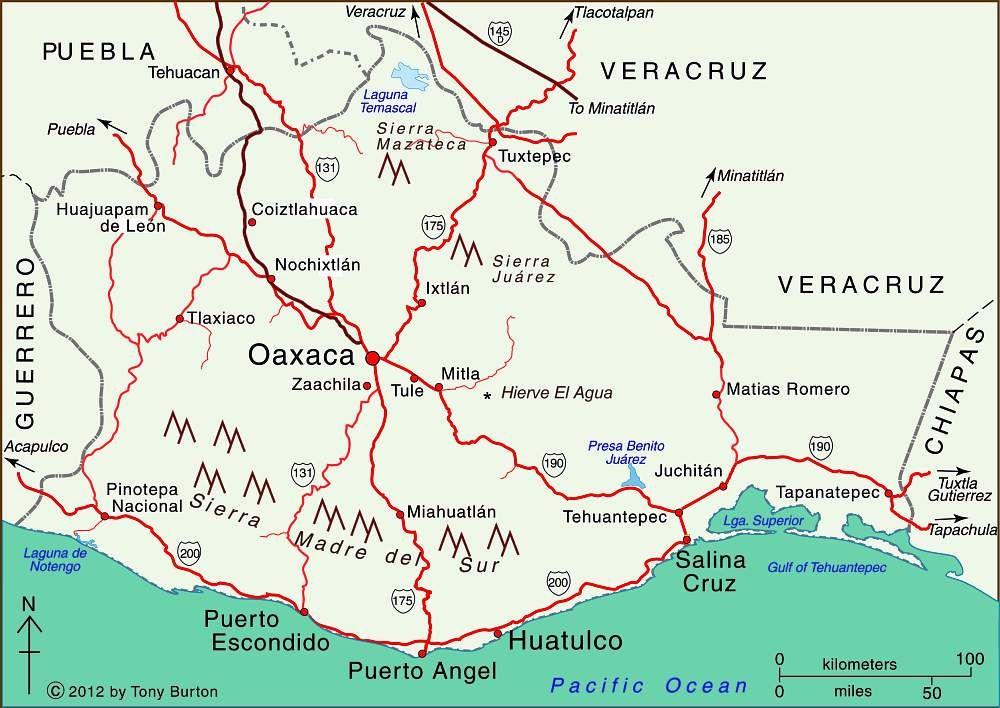 Oaxaca Mex Mapas viajes viajeros y destinos Pinterest