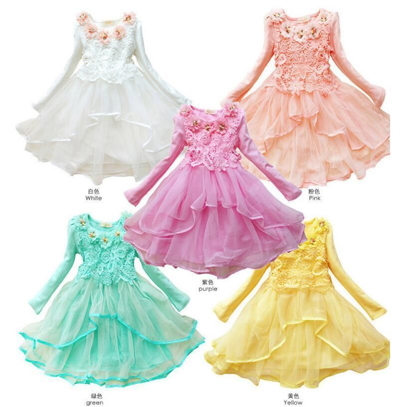 Flower Girl Princess Dress Kid Baby Party Wedding Pageant Formal Dresses Clothes
