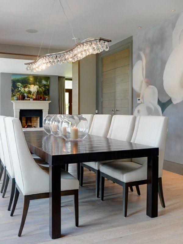 107 idees fantastiques pour une salle a manger moderne for Idee deco cuisine avec fauteuil de salle À manger en cuir