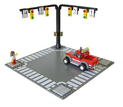 LEGO 4 x Traffic Lights For City Town Road Street Modular
