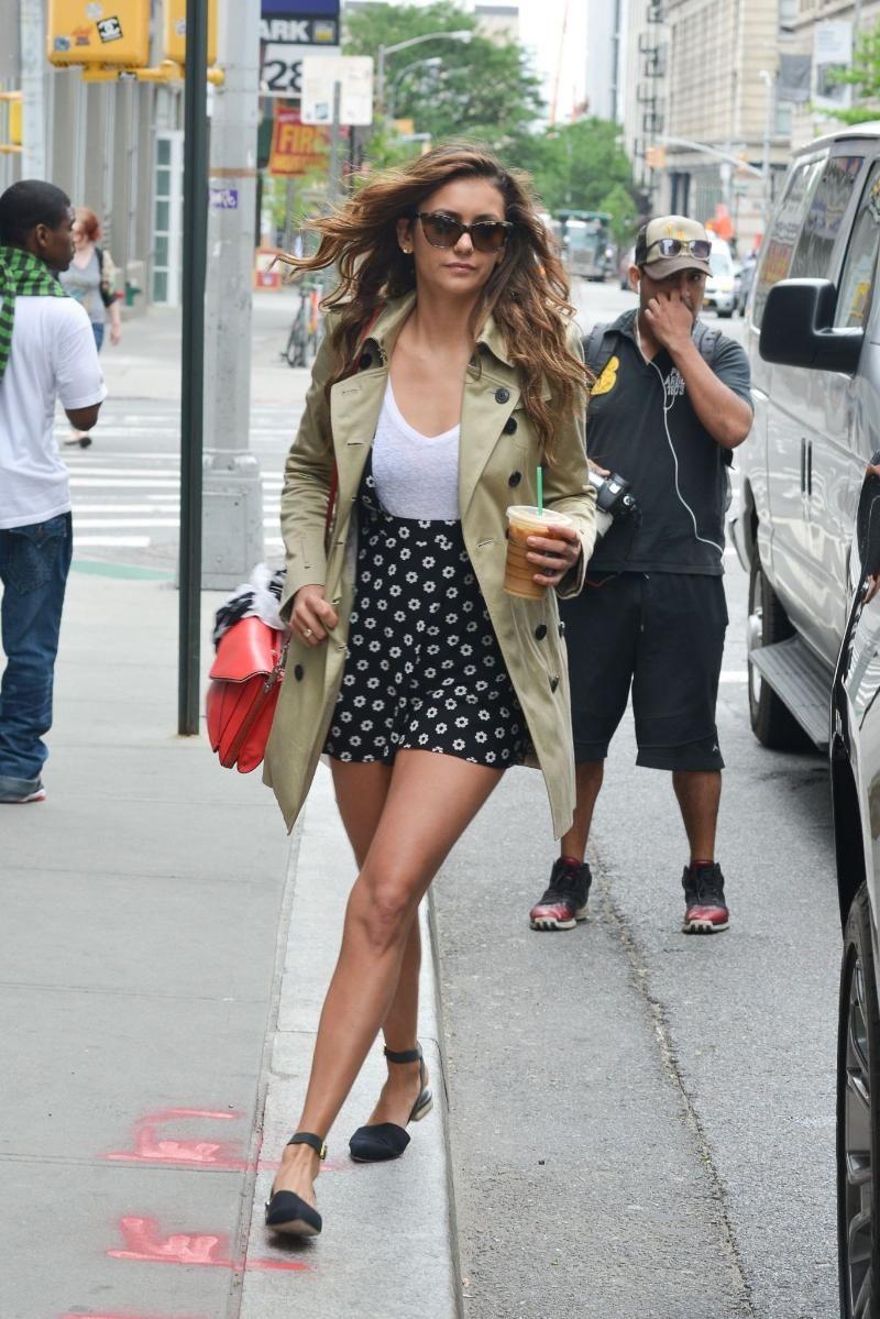 Nina Dobrev Street Style Looks 2016 2017 Street Style