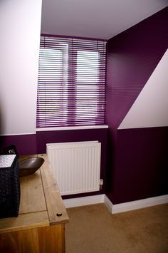 Bold Colours Are Perfect For Venetian Blinds This Purple One Ties