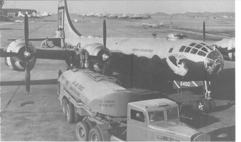 B 29 From The 98th Bomb Group At Yokota AB Fueling For A Mission In December 1951